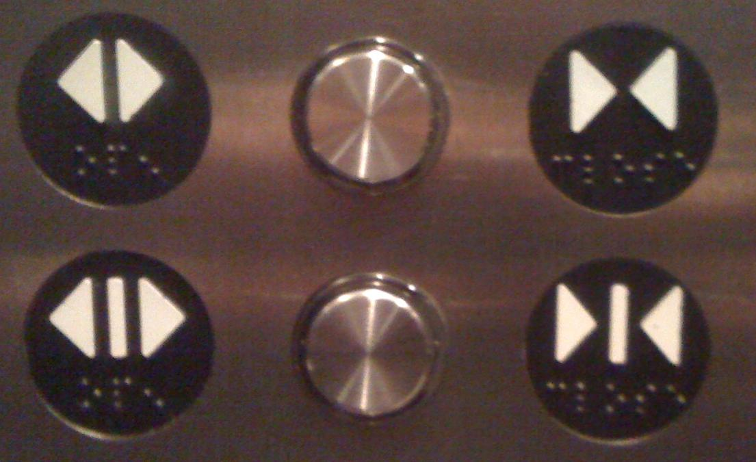 Elevator Button Symbols Open Close Or What Pete S